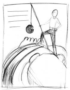 sketch for Jack the Giant Killer